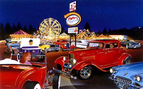 Automotive Wall Murals sammy s playland 60s hot rod print