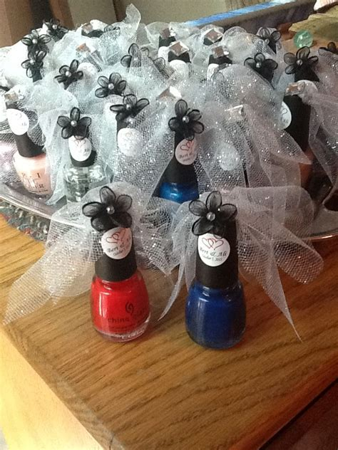 bridal shower nail polish favors  dream wedding