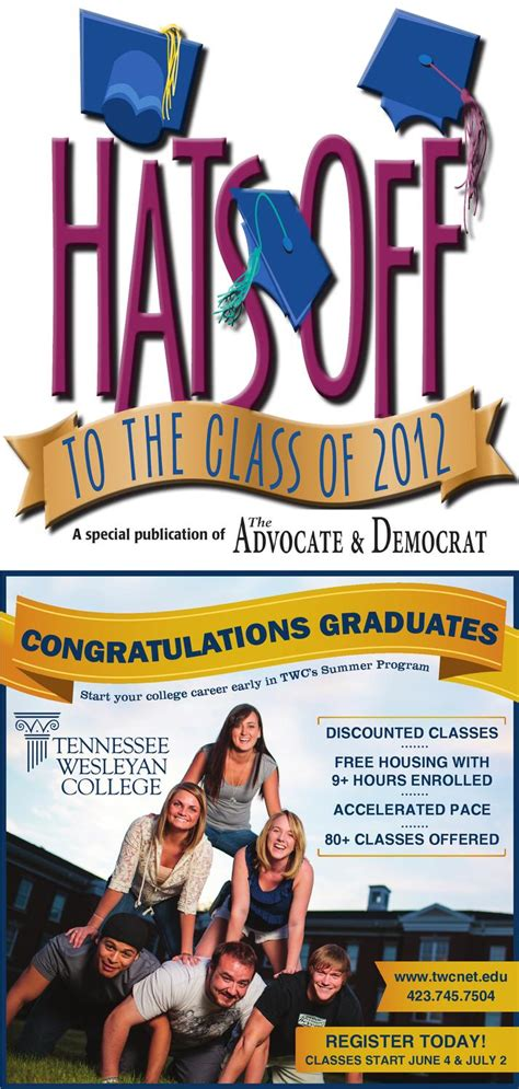 graduation section 2012 by the advocate democrat