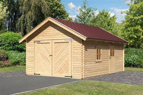 garagen doppelflügeltor karibu set einzel garage 187 blockbohlen 2 171 natur bxt