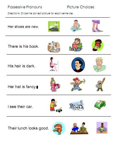 pronoun worksheet kindergarten pronouns free language stuff