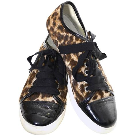pony hair sneakers lanvin pony hair patent leather low top sneakers lace up