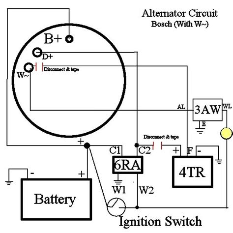 bosch alternator schematic wiring diagrams wiring