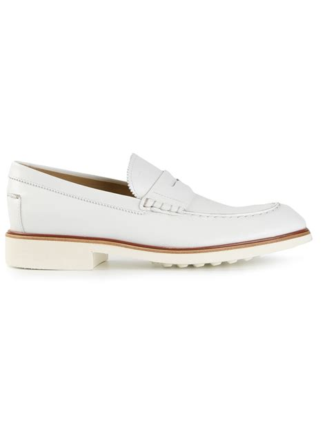 loafers for white lyst tod s classic loafers in white for