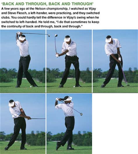 down the line golf swing sequence 0612 swing sequence vijay singh