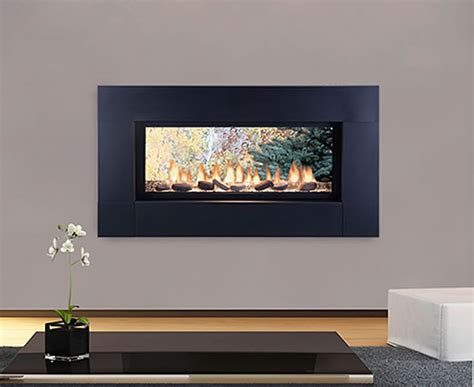 Vent Free See Through Gas Fireplace by Artisan See Through Vent Free Linear Fireplace S Gas