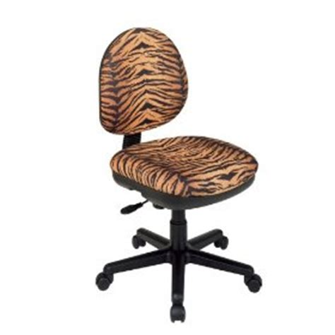 Leopard Office Chair - osp work smart tiger fabric animal print office desk chair