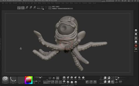 zbrush tutorial on vimeo tutorial sculpt pose and polypaint a cartoon squid in