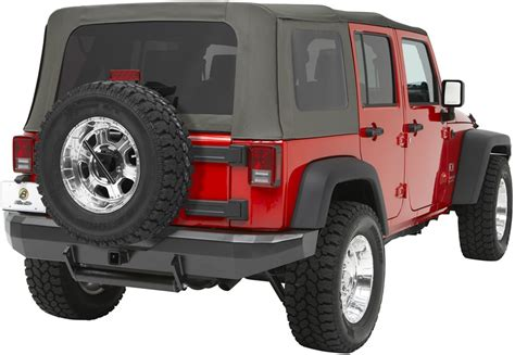 Jeep Wrangler Tire Carrier Jeep Spare Tire Carrier By Bestop For 2009 Wrangler