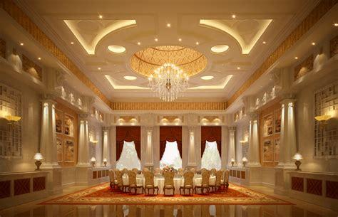 Luxury Banquet Hall Interior 3D Model .max CGTrader.com