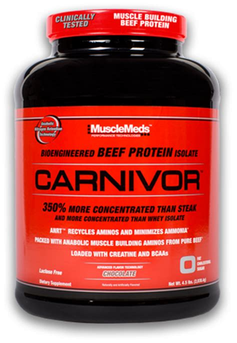Carnivor Mass 10 Lbs Chocolate musclemeds carnivor at bodybuilding best prices for carnivor