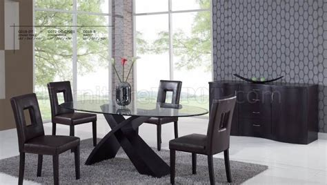 modern dining room set oval glass top modern dining table w optional chairs buffet