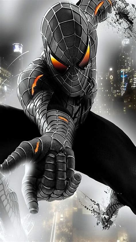 imagenes spiderman negro black symbiote spider man dc marvel pinterest