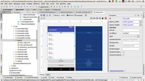 layout xml visibility xml android button not visible on the device stack