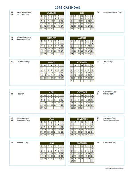 printable calendar vertical 2018 2018 annual calendar vertical template free printable
