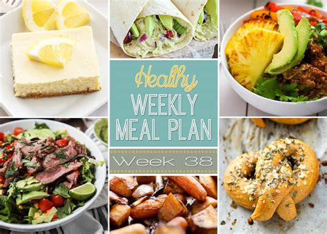 healthy dinner desserts healthy weekly meal plan 38 healthy easy