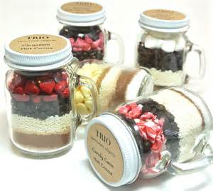 Cocoa Wedding Favor by Chocolate Wedding Favor 12 Mini 4 Oz Jar Mugs