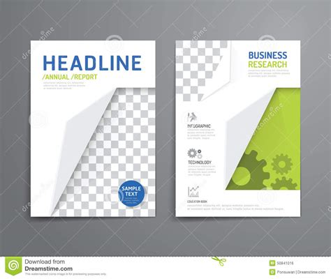 magazine cover layout design vector vector brochure flyer magazine cover booklet poster