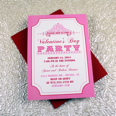 Valentine S Day Party Invitation Template Download Print S Day Invitation Template