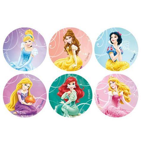 Topper Cake Motif Disney disques comestibles pour muffins quot disney princess quot 12 pcs
