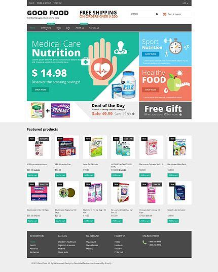 Nutrition Supplement Online Store Shopify Template Themes Business Responsive Webshop Supplement Website Template