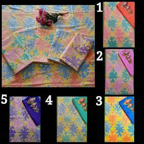 Kain Batik Pastel Printing Set Embos kain batik soft motif sekar jagad dan kain embos ka28 batik pekalongan by jesko batik