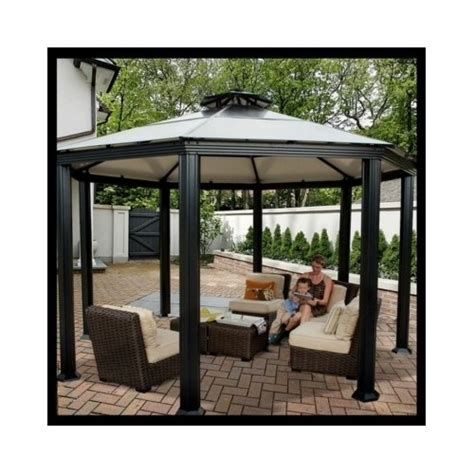 hardtop canopy gazebo pergola aluminum outdoor patio metal