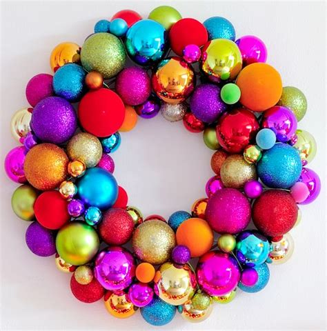 wreath christmas bauble d i y pinterest