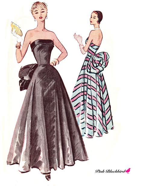 dress pattern evening wear 50s evening dress pattern 50s wedding gown by pinkblackbird