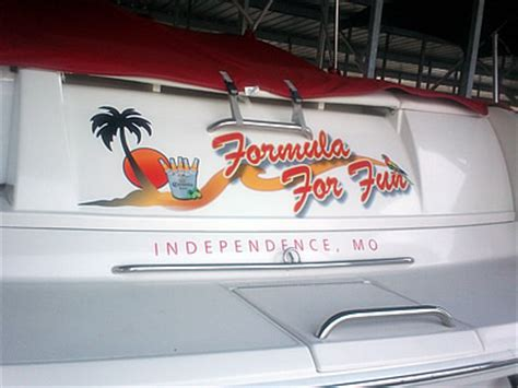boat graphics lake of the ozarks sign company lake of the ozarks custom signs lake of the