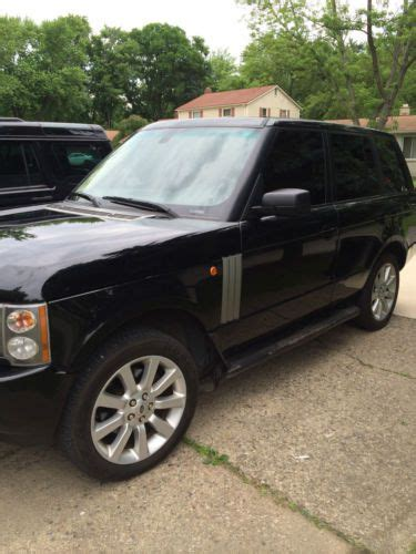 how to sell used cars 2005 land rover range rover user handbook sell used land rover range rover 2005 black hse in southfield michigan united states for us