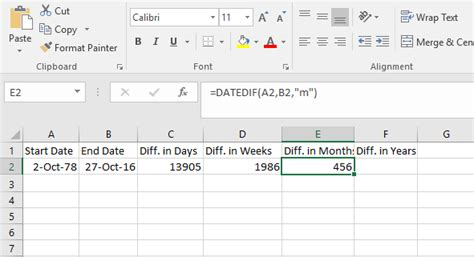 how to calculate years calculate number of days between two dates in excel theapptimes