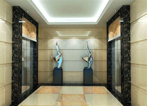 Office Lobby Design Ideas by Elevator Corridor Wall Design Download 3d House