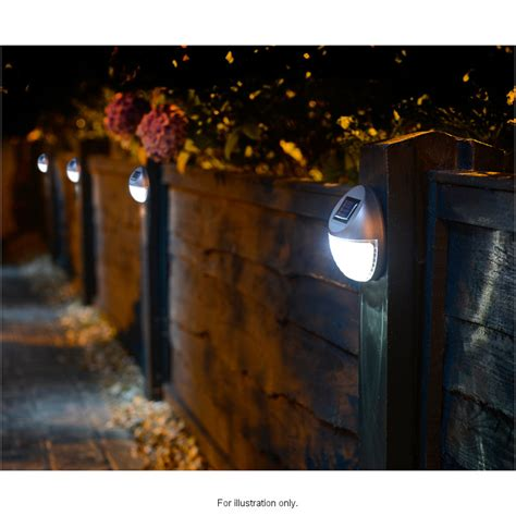 solar powered fence lights pk garden solar lights