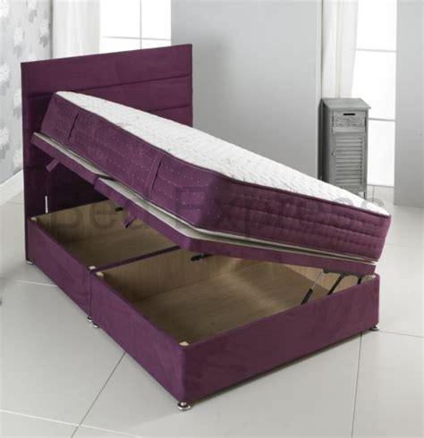 Size Bed With Mattress Included by 3ft 4ft6 5ft King Size 6ft Purple Suede