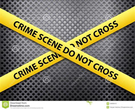 Crime Background Crime Metal Background Stock Vector Illustration