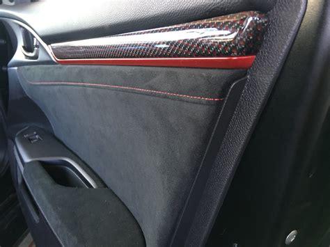 oem carbon fiber interior trim pieces installed