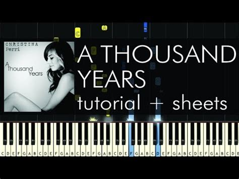 tutorial keyboard a thousand years christina perri a thousand years piano tutorial how