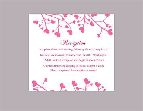 editable information card template diy wedding details card template editable word file