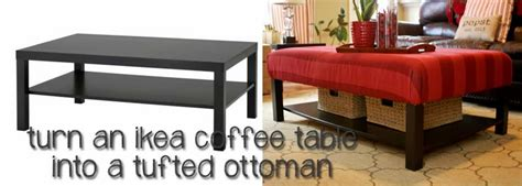 coffee table into ottoman hacking the lack into an upholstered ottoman ikea