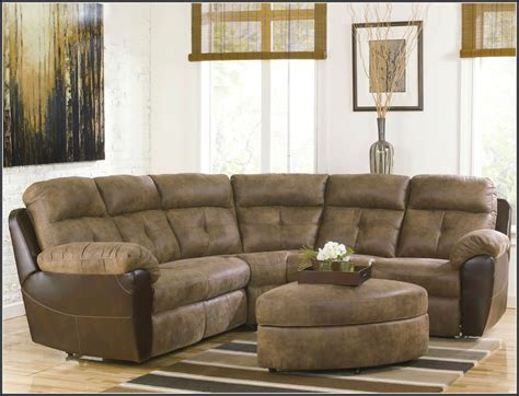 reclining l shaped sofa small leather sectional sofa with recliner okaycreations net