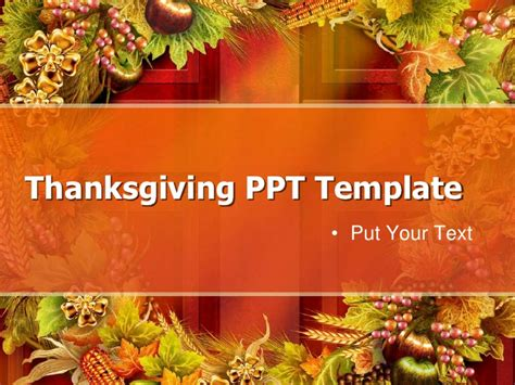 thanksgiving template thanksgiving ppt template free