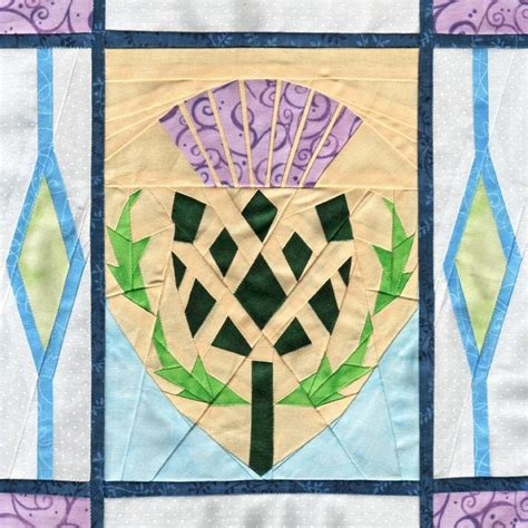 Scottish Quilt Patterns by Scottish Thistle Paper Piecing By Soma1773 Craftsy