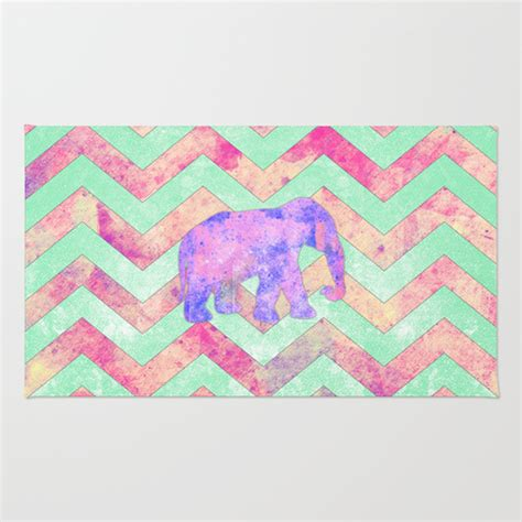 pink chevron area rug whimsical purple elephant mint green pink chevron area throw rug by girly trend society6