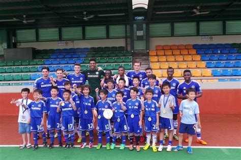 chelsea academy players chelsea s stars of the future inspire youngsters to