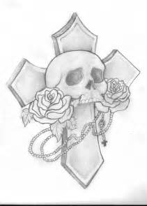 skull and cross tattoo drawing by leah thornton