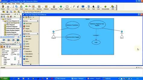 tutorial uml youtube tutorial uml use case diagram pendaftaran perpus part