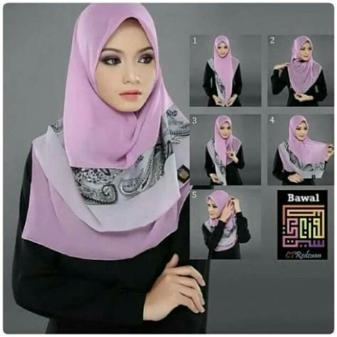 tutorial hijab bawal simple 17 best images about hijab tutorial on pinterest