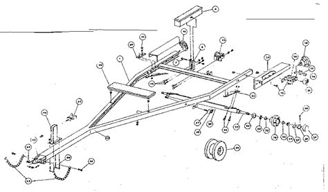 boat trailer axle assembly diagram sears 250 pound and 450 pound boat trailers parts model