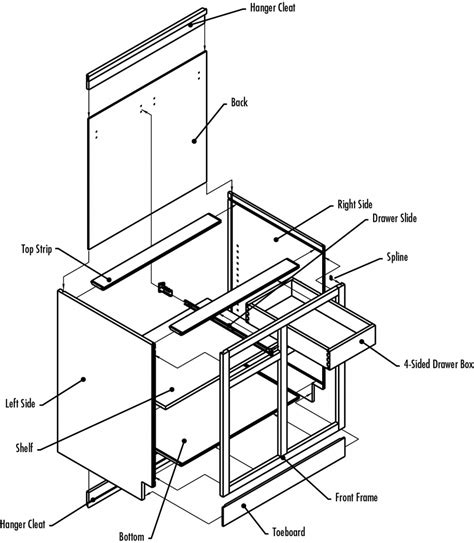 kitchen cabinet diagrams kitchen cabinet drawer parts alkamedia com